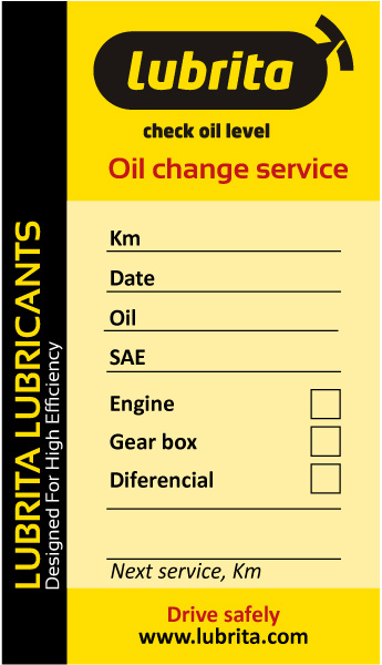 Lubrita Oil Change service label_news.jpg