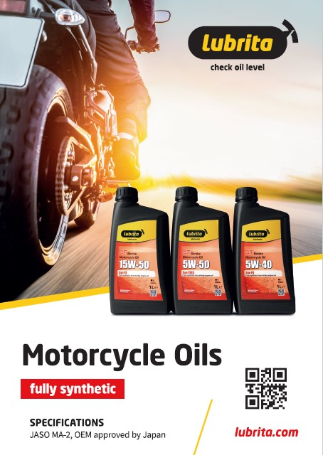 Lubrita Motorcycles Oils and lubricants JASO MA-2 poster opt1.jpg