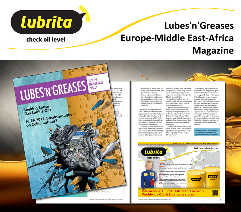 Lubrita Lubes and Greases EMEA magazine advertising March 2013.jpg